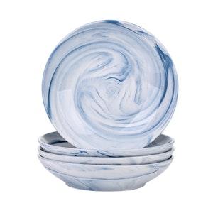 Vancasso Clara serien, djup tallrik 4-delar blå