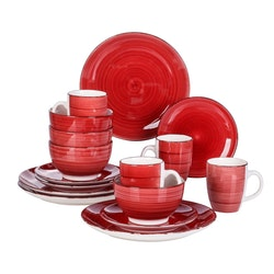 Vancasso Bella serien, servis set 16-delar röd