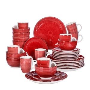 Vancasso Bella serien, servis set 32-delar röd