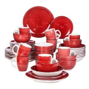 Vancasso Bella serien, servis set 40-delar röd