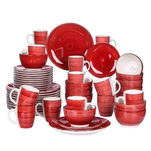 Vancasso Bella serien, servis set 48-delar röd