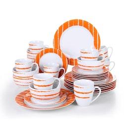 VEWEET Iona serien, servis uppsättning 32-delar Vit/orange