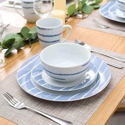 VEWEET Imani serien, servis uppsättning 32-delar blå/vit