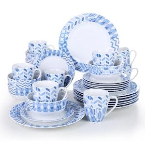 VEWEET Bala serien, servis uppsättning 32-delar blå/vit