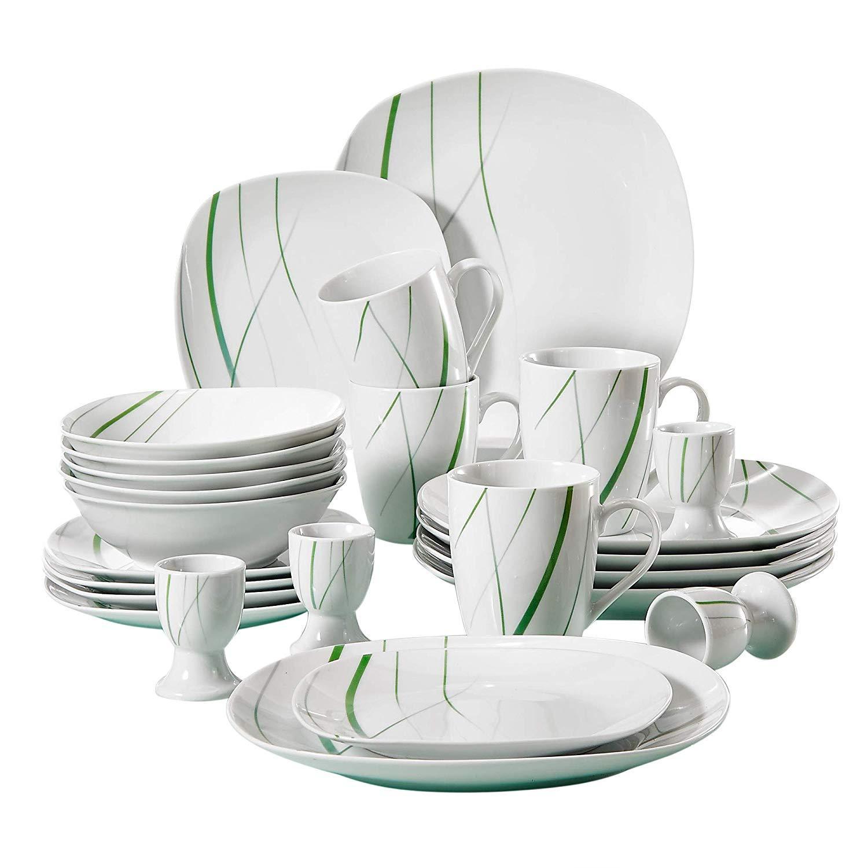 VEWEET Aviva serien, servis set 20-delar grön/vit