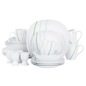 VEWEET Aviva serien, servis set 22-delar grön/vit