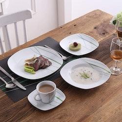 VEWEET Aviva serien, servis set 60-delar grön/vit