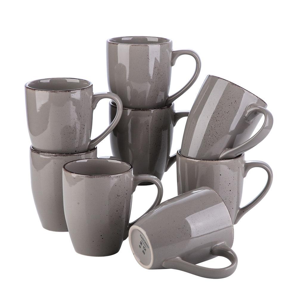 Vancasso Navia serien, mugg set 8-delar grå