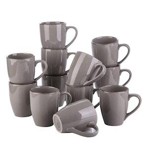 Vancasso Navia serien, mugg set 12-delar grå