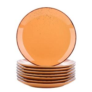 Vancasso Navia serien, tallrik 8-delar orange