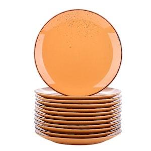 Vancasso Navia serien, tallrik 12-delar orange