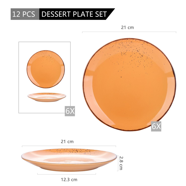 Vancasso Navia serien, Assiett 8-delar orange