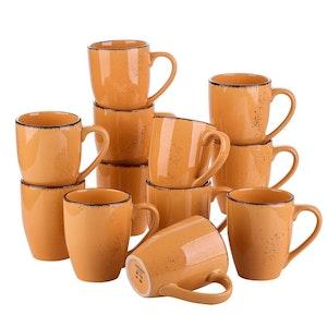 Vancasso Navia serien, mugg set 12-delar orange