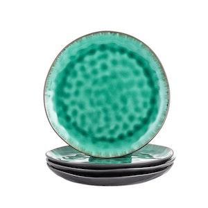 Vancasso, Coco serien tallrik 4-delar i keramik grön
