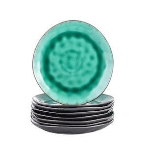Vancasso, Coco serien assietter 8-delar i keramik grön