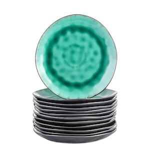 Vancasso, Coco serien assietter 12-delar i keramik grön