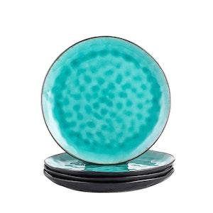 Vancasso, Aqua serien tallrik 4-delar i keramik turkos