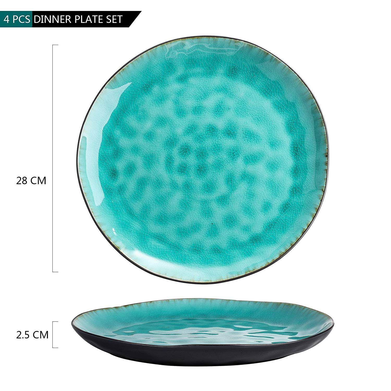 Vancasso, Aqua serien tallrik 12-delar i keramik turkos