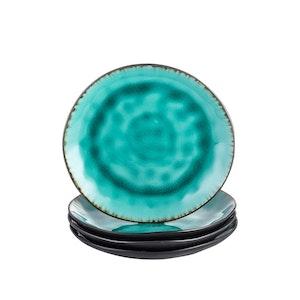 Vancasso, Aqua serien assietter 4-delar i keramik turkos