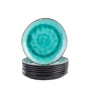 Vancasso, Aqua serien assietter 8-delar i keramik turkos