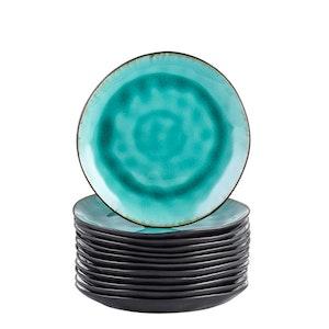 Vancasso, Aqua serien assietter 12-delar i keramik turkos
