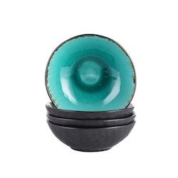 Vancasso, Aqua serien skålar 4-delar i keramik turkos