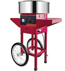 VEVOR sockervaddsmaskin på vagn röd