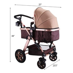 VEVOR Fällbar Barnvagn