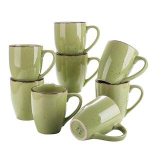 Vancasso Navia serien, mugg set 8-delar grön