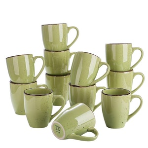 Vancasso Navia serien, mugg set 12-delar grön