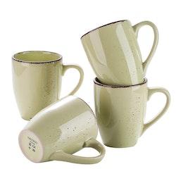 Vancasso Navia serien, mugg set 4-delar gulgrön