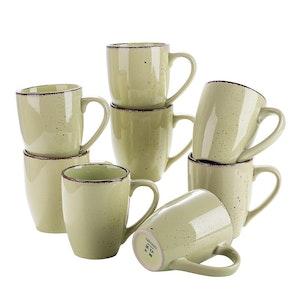 Vancasso Navia serien, mugg set 8-delar gulgrön