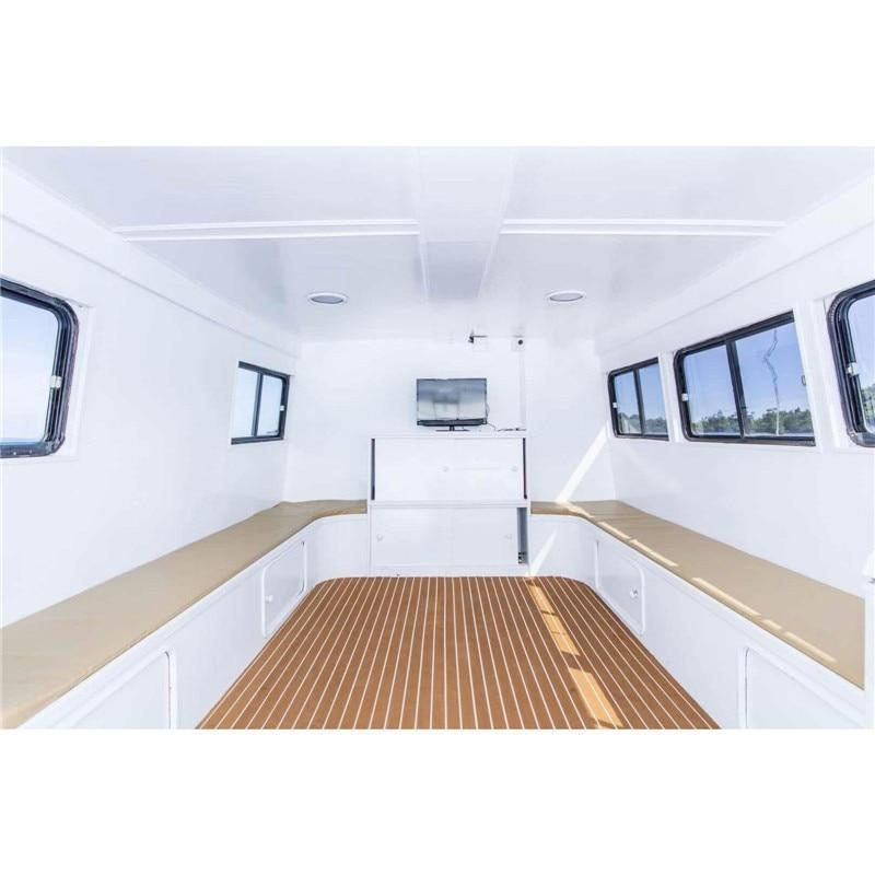 Självklistrande båtmatta med teaklook ljusbrun 90x240cm