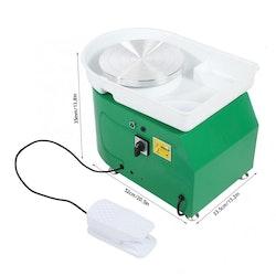 Elektrisk drejskiva 220V, Grön