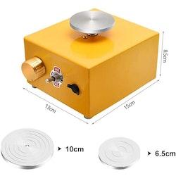 Elektrisk mini drejskiva 220V, Guld