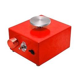 Elektrisk mini drejskiva 220V, Röd
