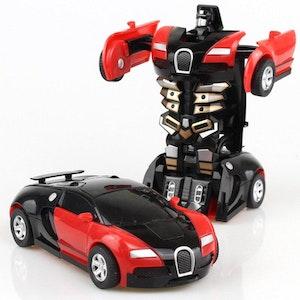 Leksaksbil transformer röd
