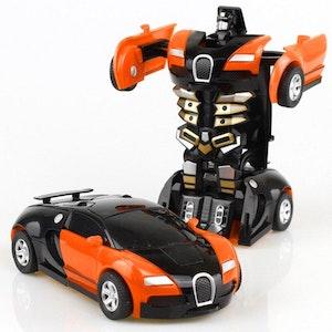 Leksaksbil transformer orange