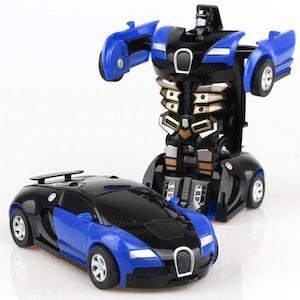 Leksaksbil transformer blå