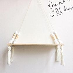 Hylla med pärlor, vit