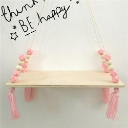 Hylla med pärlor, rosa