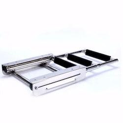 Hopfällbar tre stegs badstege kassett