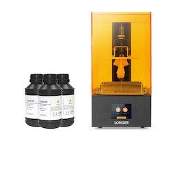 SLA 3D-skrivare och 1,5L Resin, Orange