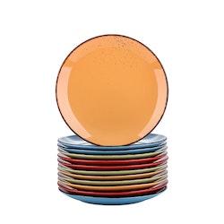 Vancasso Navia serien, Assiett 12-delar färg mix