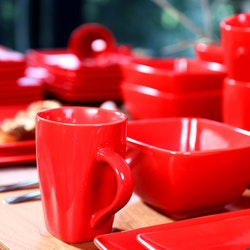 Vancasso SOHO, servis set 16-delar röd