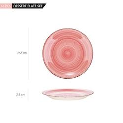 Vancasso Bella, assiett 12-delar rosa
