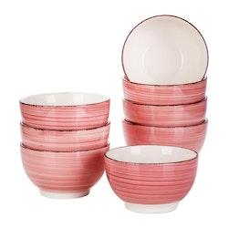 Vancasso Bella serien, skål set 8-delar rosa