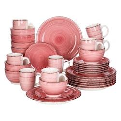 Vancasso Bella serien, servis uppsättning 32-delar rosa