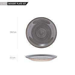 Vancasso Bella, assiett 4-delar grå