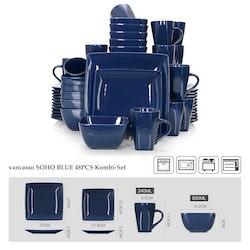 Vancasso SOHO, servis set 48-delar mörkblå